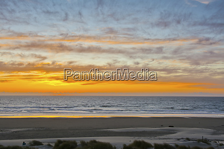 sunset at heceta beach oregon coast