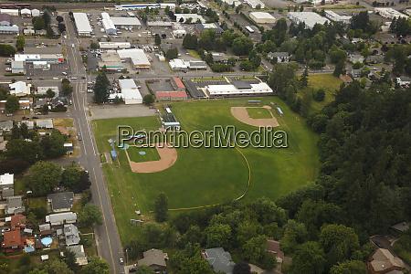 usa oregon salem aerial view of