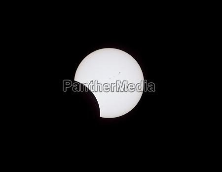 usa wyoming glendo partial solar eclipse