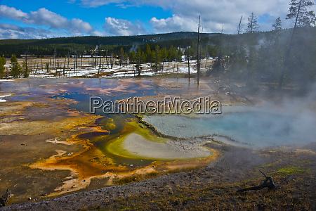 usa wyoming yellowstone national park bubble