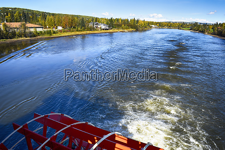 usa alaska fairbanks chena river paddle
