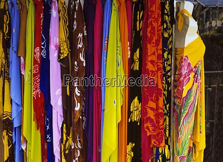 colorful sarongs in quaint honomu on