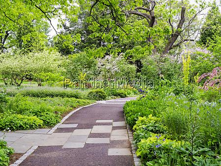 usa pennsylvania pathway through a garden