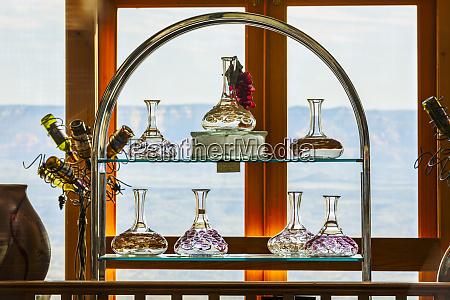glassware vase inside shop window ghost