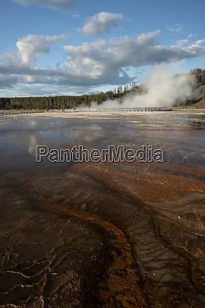 usa wyoming grand prismatic springs upper