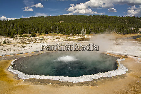 crested pool upper geyser basin yellowstone