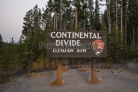 continental divide near west thumb yellowstone