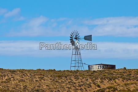 usa arizona isolated ranch windmill on