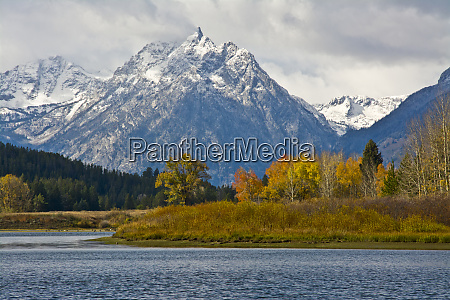grand tetons from the oxbow autumn