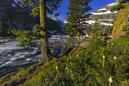 leigh lake and snowshoe peak in