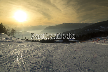 view of beautiful winter mountain landscape
