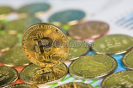 bitcoin trading concept virtual money
