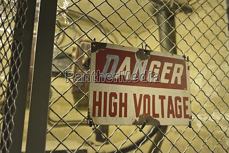usa arizona danger high voltage sign