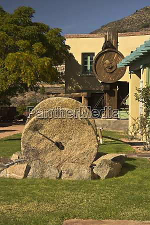 douglas mansion and old mining equipment