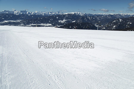 winter view in the mountains ski