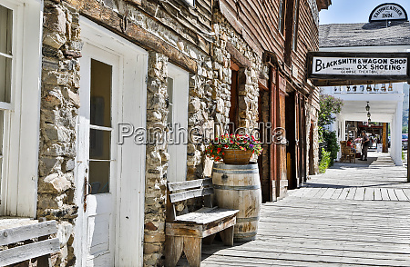usa montana virginia city sidewalk