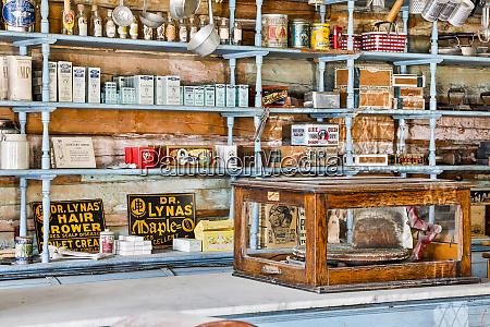 usa montana virginia city shelves of