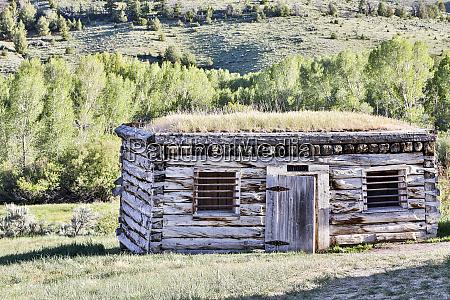 usa montana bannack state park restored