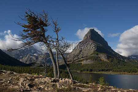 usa montana grinnell peak and swiftcurrent