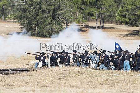 civil war soldiers shooting large format