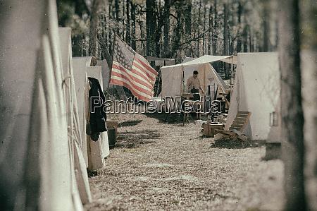 wet plate civil war campsite