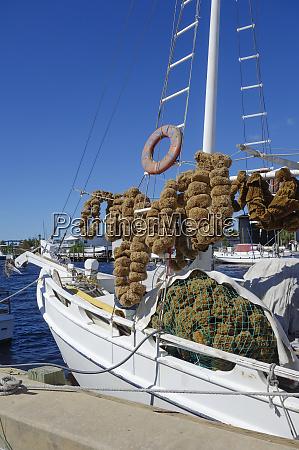 loaded sponge boat before offloading its