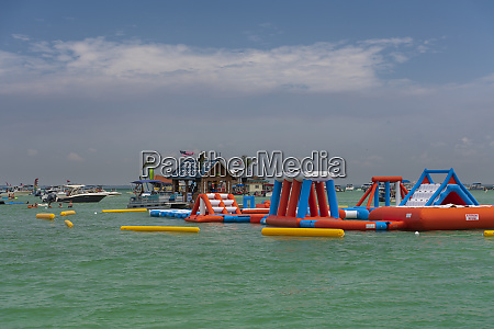 boats and people in the waters