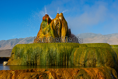 usa nevada gerlach fly geyser black