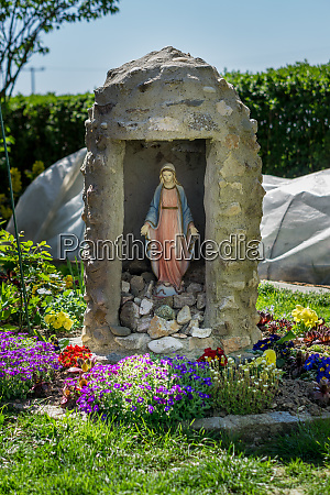 madonna in a grotto