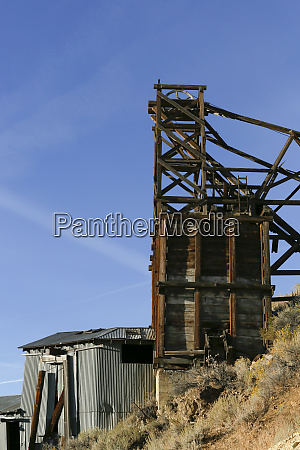 historic mining equipment from a bygone