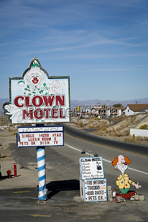 historic clown motel sign tonopah nevada