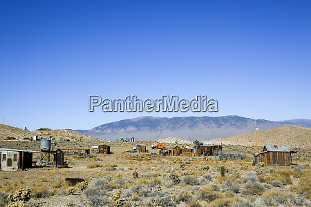 landscape over the abandoned town of