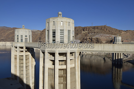 usa nevada intake towers of hoover