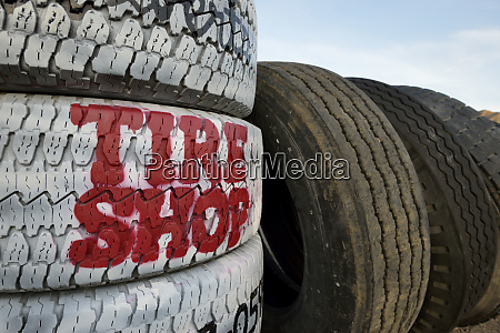 usa nevada beatty tire shop sign