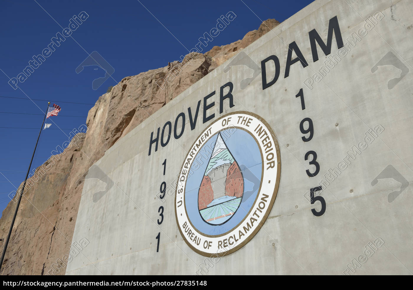 usa, , nevada, , hoover, dam, us, department - 27835148