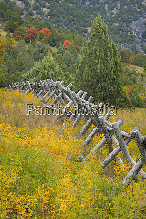 usa, , utah, , wasatch, mountains., fence, and - 27835530