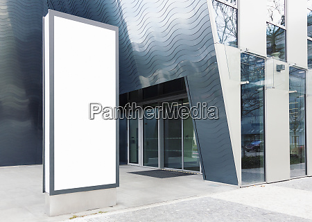 standing outdoor business center billboard with