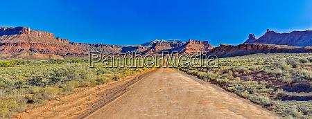 usa utah moab straight dirt road