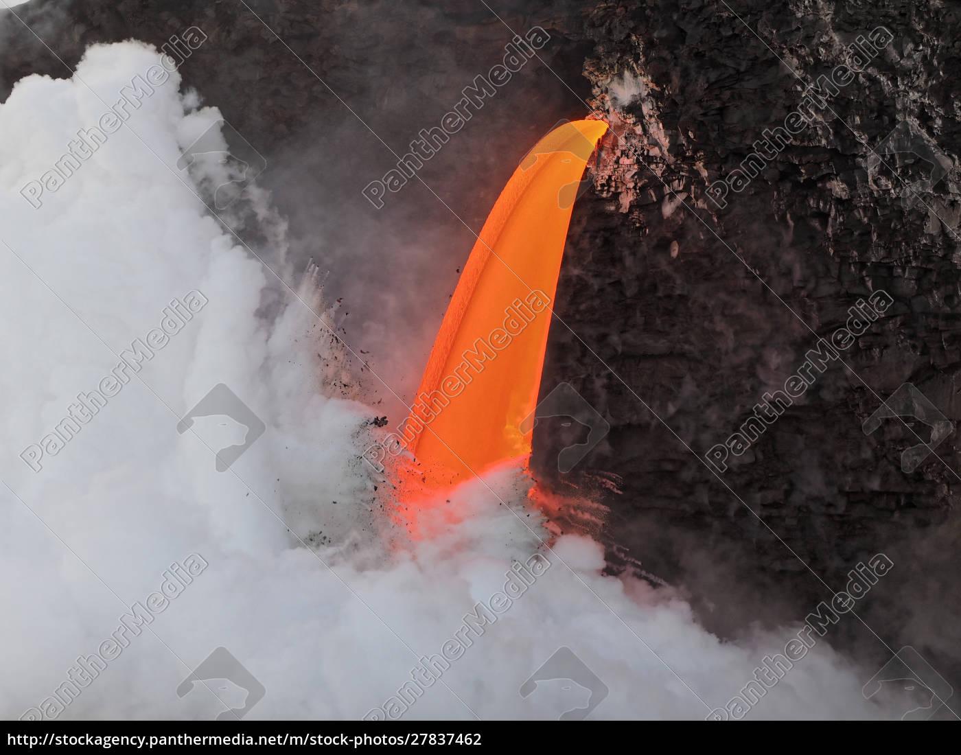 usa, , hawaii, , big, island., lava, from - 27837462