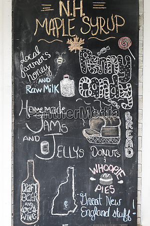 chalkboard advertising homemade and local foods
