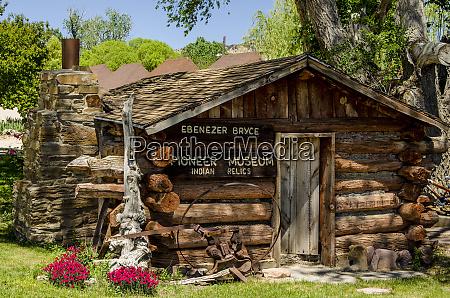 ebenezer bryce cabin pioneer museum tropic