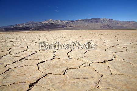 dried mud in salt pan panamint