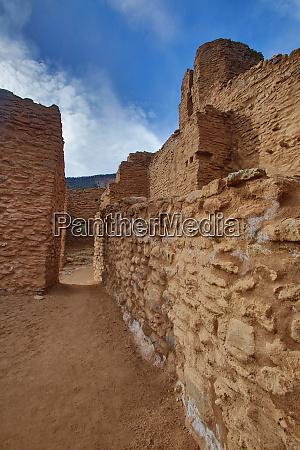 usa new mexico jemez ruins of