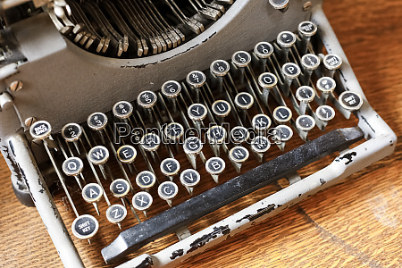 vintage typewriter in a consignment store