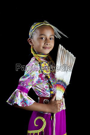 traditional pow wow dancer 9 year