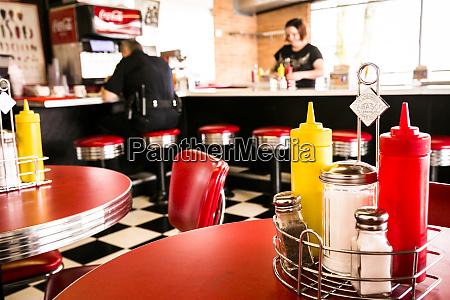 interior of a retro diner springfield