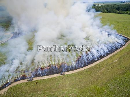 summer prairie burn prairie ridge state