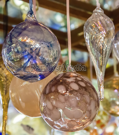usa indiana hanging glass ornaments and