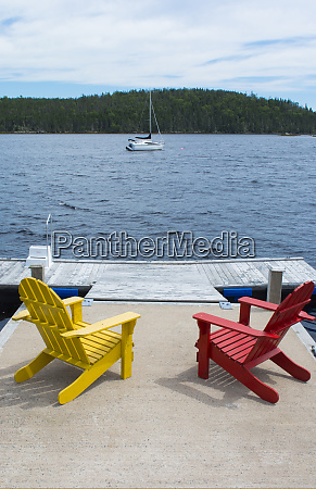 bar harbor maine peaceful scene on
