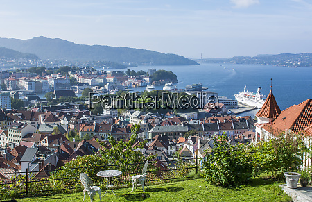 bergen norway aerial of the city